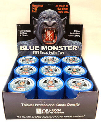 "Blue Monster PTFE Thread Seal Tape 1"" x1429"" 27 per box"