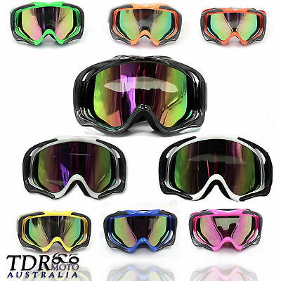 Adult tinted motocross goggles anti-fog UV protection ATV MX dirt trail bike