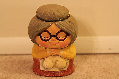 Vintage Japanese Old Woman Piggy Bank