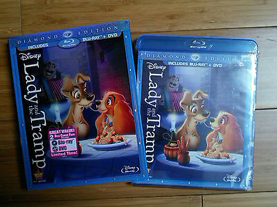 LADY AND THE TRAMP (Sealed, Out-Of-Print Blu-ray+DVD+Slip Cover, Region free)
