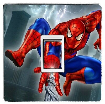 SPIDERMAN light switch sticker cover / skin decal. (Image 7)