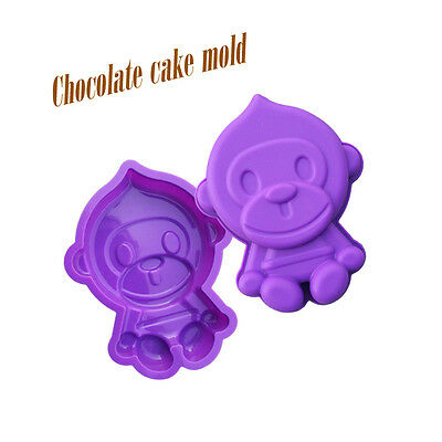 New Lovely Monkey Candy Chocolate Ice Cube Cake Mold Mould Silicone Baking Tools