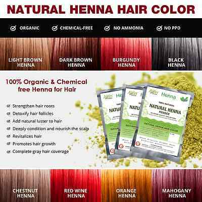 Allin Exporters Natural Henna Hair Color - 100% Organic and Chemical Free Henna