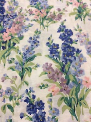 "Laura Ashley ABBEVILLE Floral Stocks Balloon Valance 84"" x 18"" Blue Violet Pink"