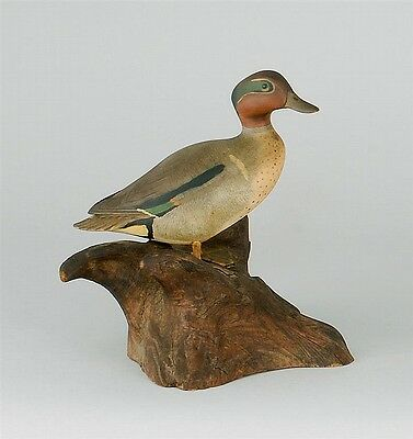 MINIATURE GREEN-WINGED TEAL DRAKE By Wendell Gilley of Southwest Harb... Lot 192