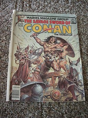 MARVEL MAGAZINE SAVAGE SWORD OF CONAN THE BARBARIAN JULY 1983 #90