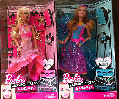 BARBIE SET OF 2  FASHIONISTAS IN THE SPOTLIGHT SUMMER AND BARBIE   NEW