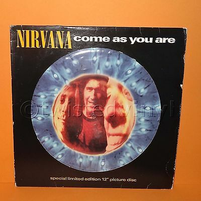 "Geffen Nirvana - Come As You Are Limited Edition 12"" Single Picture Disc Vinyl"