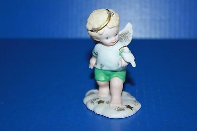 Cute Bronson Tip-Toe In The Clouds Angel With a Bird  Figurine