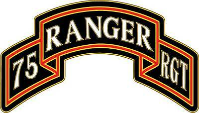 U.S. Army 75th Ranger Regiment (Airborne): comb Vinyl Decal ANY SIZE Sticker