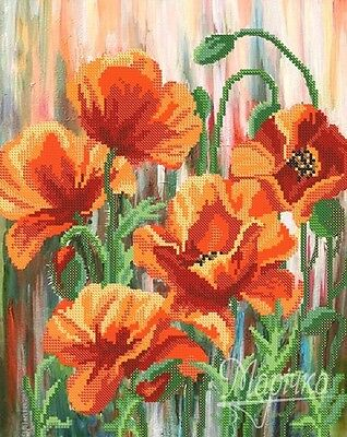 Petals of Flame beading DIY kit Seed Beads Needlepoint Tapestry Embroidery gift