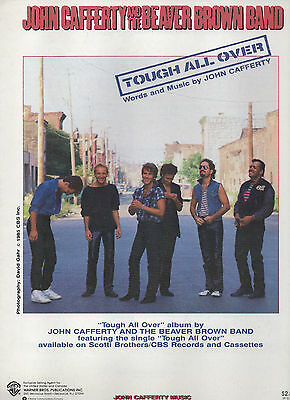 John Cafferty, Beaver Brown sheet music Tough All Over 1985 6 pages (NM shape)