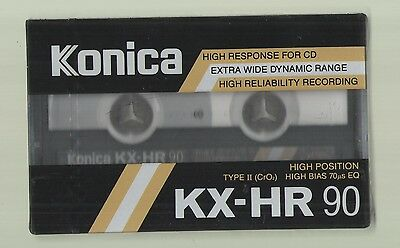 KONICA KX-HR 90 High Bias Type II Brand New Sealed Blank Audio Cassette Tape