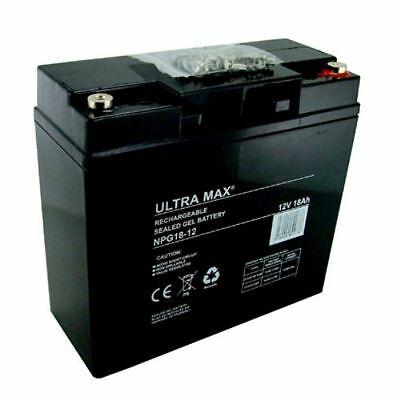 2 (Paire ) x Ultra Max 12V 18AH AGM/GEL MOBYLETTE & CHAISE ROULANTE BATTERIES