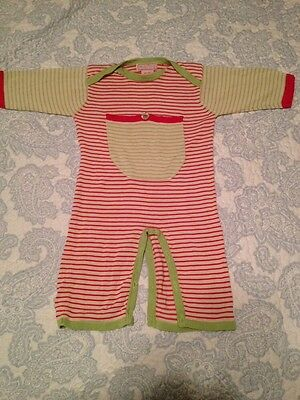 Malina 6 Month Size Silk Baby Pajamas Pj Beautiful Outfit Missing Buttons
