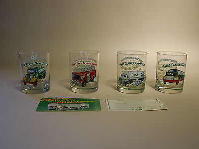 Hess Glasses Set Of Four Glasses With Inserts Mint Condition