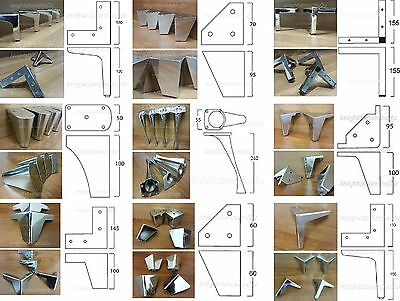 4x REPLACEMENT METAL FURNITURE FEET/LEGS - SOFA, CHAIRS, SETTEES PRE FIX