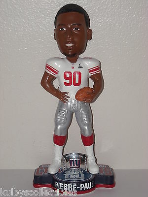 JASON PIERRE-PAUL New York Giants Bobble Head 2012 Super Bowl Champs SBXLVI NFL*