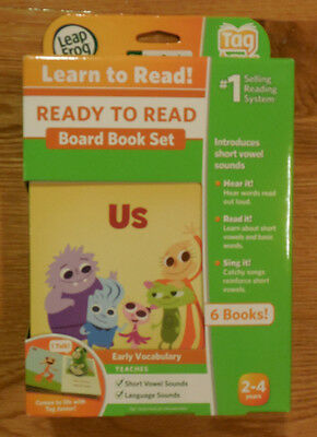 New LeapFrog LeapReader Tag Junior Ready to Read Board Book Set 6 Books Sealed