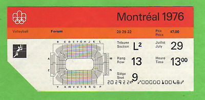 Orig.ticket    Olympic Games MONTREAL 1976 - VOLLEYBALL