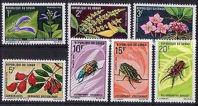 CONGO 1970 INSECTS FLORA MNH