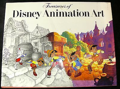 Treasures Of Disney Animation Art 1982 First Edition In Dust Jacket