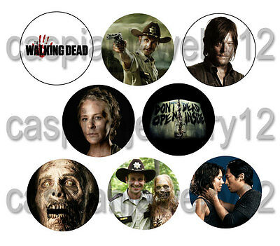 8 piece lot of The Walking Dead pins buttons badges