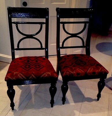 Texas Twins Treasures Antique Pair Of Baroque Dining Chairs Rare Find Beautiful