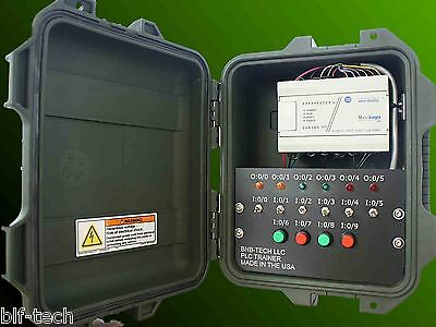 Allen Bradley MicroLogix1000 PLC Trainer with 1761-L16BWA PLC HMI Software