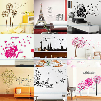 DIY Kids Removable Vinyl Art Wall Quote Stickers Paper Decal Home Room Decor New