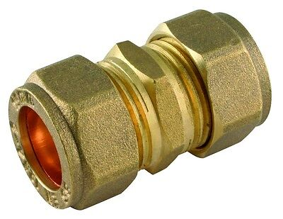 Brass Compression Straight Coupler Various Sizes 8mm - 42mm NEW