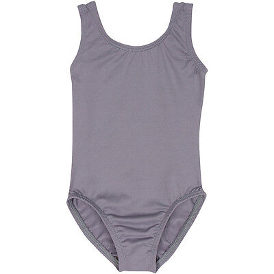 GRAY Tank Leotard for Ballet and Gymnastics
