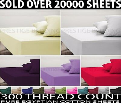Luxury 100% Egyptian Cotton Fitted Sheets 200 Thread Count Sheet Double King 4FT