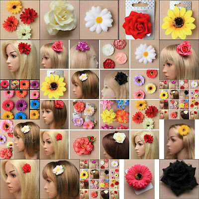 Hair Flower Daisy Sunflower Hair Clip Slide Bridesmaid Festival Fascinator 5