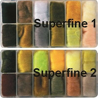 Veniard NEW Superfine 1 and Superfine 2 Fly Tying Dubbing Dispensers
