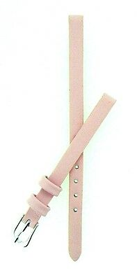 Pink Calf Grain Leather Watch Strap With FREE Fitting Pins 6mm and 8mm
