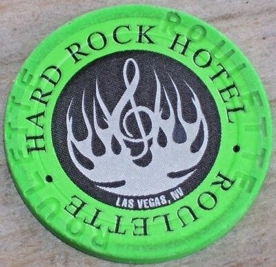 2ND EDT ROULETTE CHIP FROM THE HARD ROCK CASINO LV NV