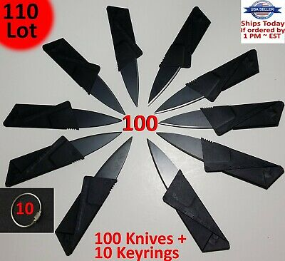 20 x Credit Card Knives Lot, folding, wallet thin, pocket survival micro knife !