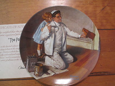 "Norman Rockwell 1983 Limited Edition Collectible Plate ""The Painter"" Heritage C."