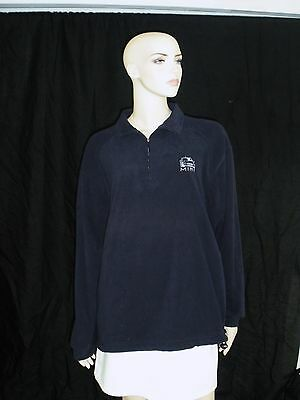 MINI COOPER BLUE FLEECE PULLOVER JACKET SWEATER SIZE M MEDIUM ELEMENT POLY LINED