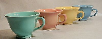 5 LOTS of Lu ray Pastels - 4 Coffee Cups . Yellow, Pink, Green & Blue per lot