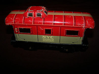 Vintage O Scale Marx NYC 20102 New York Central Tin Caboose Train Car!!