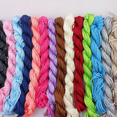 1Roll 1mm*26m Nylon Cord Thread Chinese Knot Macrame Bracelet Braid String Knit