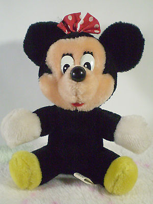 "Vintage Disneyland Walt Disney World Minnie Mouse 7"" Doll Toy Plush"