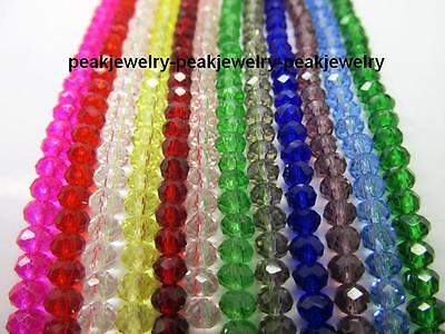 150pc,100pc,72pc 4mm,6mm,8mm,10mm Crystal Glass Facted beads 26 color pick 0.99