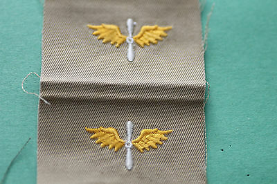 USAAC  WW2  UNCUT PAIR   WINGED  PROP.. AIR CORPS  GOLD COLOR
