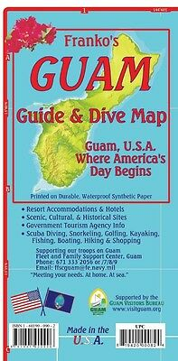 Guam Adventure Guide & Dive Map Waterproof by Franko Maps
