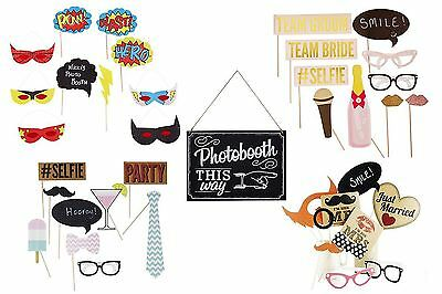 Vintage Photobooth Props Birthday 18th 21st 30th 40th Wedding Hen
