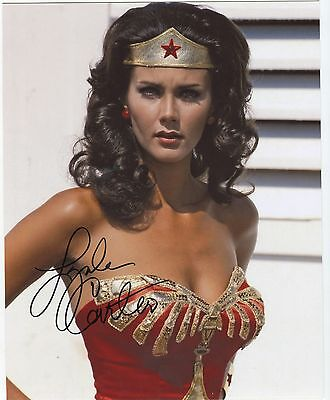 "Lynda Carter Autographed Signed 8x10"" Photo Sexy Wonder Woman COA"