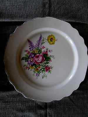Vintage Lido W. S. George  Conarytone   Dinner Plate,  Floral pat.
